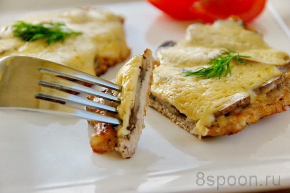 Мясные биточки с помидоркой и сыром